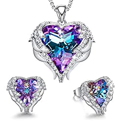 Angel Wing Heart Necklaces and Earrings