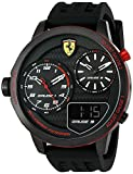 Scuderia Ferrari Men's 'XX KERS' Quartz Stainless Steel and Silicone Casual Watch, Color Black (Model: 0830318)