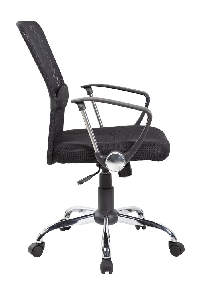 Mid back mesh office chair with lumber Jet Black