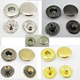 Leather Rivets Set 500 Sets Snap Button Fasteners 15mm 5/8'' Rapid Rivet Leather Craftmetal 5 Color Choice 4in1 Ws
