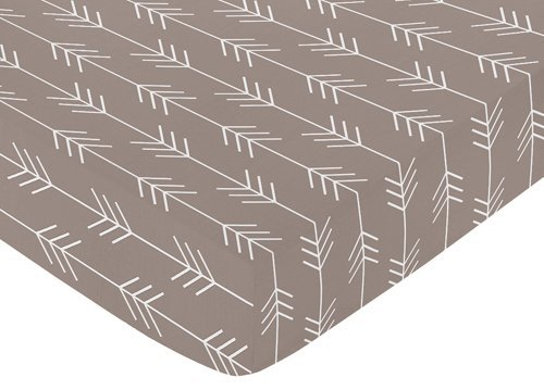 Outdoor Adventures Pattern (Sweet Jojo Designs Fitted Crib Sheet for Outdoor Adventure Baby/Toddler Bedding - Arrow Print)
