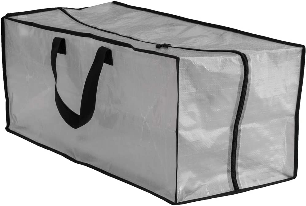 Compatible with IKEA Frakta Hand Carts Earthwise Clear Storage Bags Heavy Duty Extra Large Transparent Moving Totes w//Zipper Closure Reusable Backpack Carrying Handles 29 X 13.5 X 12 4 Pack