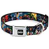 "Buckle-Down Seatbelt Dog Collar - Avengers Assemble Comic Book Character Panels - 1.5"" Wide - Fits 16-23"" Neck - Medium"