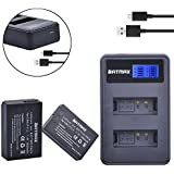 Batmax LP-E12 Battery (2-Pack) and Compact LCD USB Dual Charger for Canon LP-E12, LP E12, LPE12 and Canon Rebel SL1 100D, EOS-M, EOS M2, EOS M10 Mirrorless Digital Camera