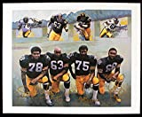 Pittsburgh Steelers Steel Curtain 8x10 Reprint Photo - Joe Greene +3