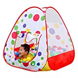 Image of Kids Indoor Ball Tents,PortableFun Outdoor Pop Up Play Tent Playhouse - Perfect Christmas Gift Presents For Children-(Ball Pits Not Included)