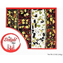 Luxury Assorted Turkish Delight w/ Pistachio – Honey, Pomegranate, Milky Coconut, Zereshk Barberry – Fresh, Handcrafted Snacks – Vegan, Halal, Gluten Free Certified