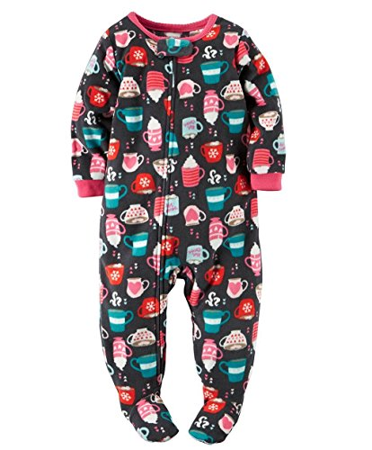 Carter's Girl's Size 3T Hot Cocoa, Marshmallow, Footed Blanket Pajama Sleeper