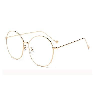 b075c18bb5 Natwve Co Oversized Metal Frames Vintage Men Women Eyeglasses Retro Round  Circle Glasses (Black) (
