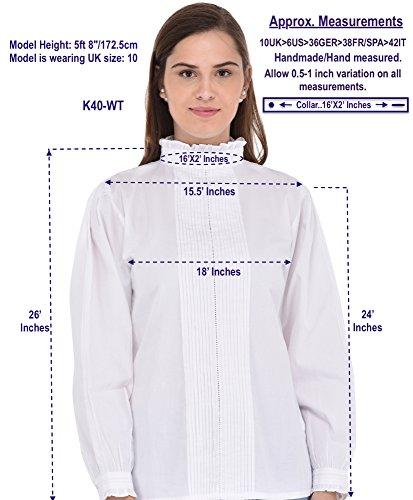 Camicetta Cotton Edoardiana Lane Cottone Bianco qf8wx4OPtn