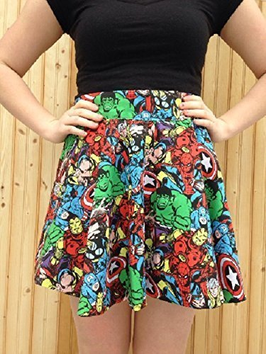 Marvel Comics Vintage Style Circle Skirt