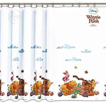 Disney Voile Netz Vorhang Winnie the Pooh – Breite 75 cm x ...