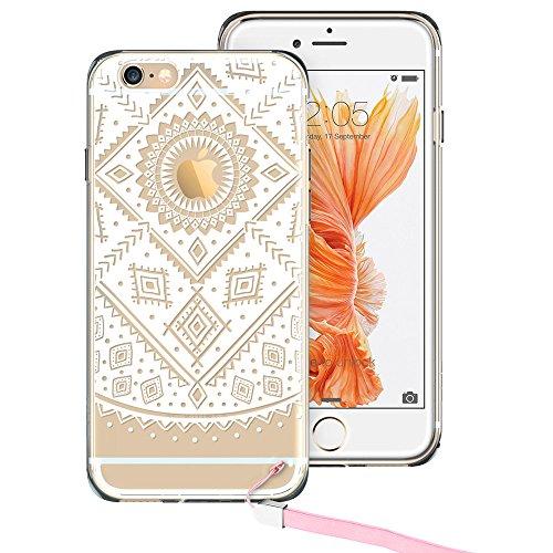 iPhone ESR Mandala Pattern Plus White
