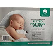 Baby Mattress Protector Ultra Soft Quilted Crib Sheets Premium Hypoallergenic, Mattress Pad Topper for Boys and Girls Cribs Mattress Cover Size 27  x 39  x 5