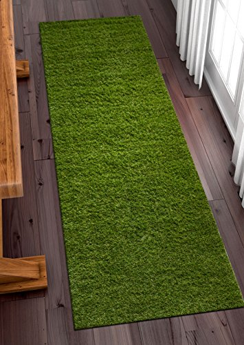 (Well Woven Super Lawn Artificial Grass Indoor/Outdoor Synthetic Turf Fade Resistant Easy Care 2x7 (2'7