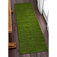 Well Woven Super Lawn Artificial Grass Indoor/Outdoor Synthetic Turf Fade Resistant Easy Care 2x7 (27 x 77 Runner)
