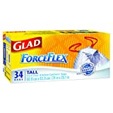 Glad ForceFlex Odor Guard Tall Kitchen Drawstring Trash Bags, 34 ct.
