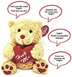 "Farting Teddy Bear - Hug It's Heart to Hear It Fart | Soft Plush 11"" Brown Teddy Bear 