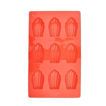 Molde de silicona molde para galletas (Madeleine Pan, Molde para hornear, moldes de