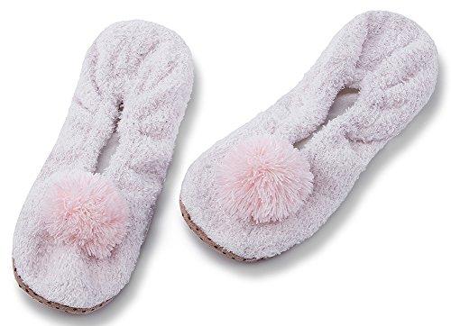 Maamgic Kvinners Fuzzy Jule Huset Tøfler Damene Søt Roms Innendørs Strikke Vinter Tøfler Rosa