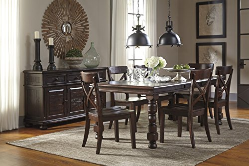 Signature Design by Ashley Gerlane Casual Dining Room Set with Dining Table and 6 x Side Chair