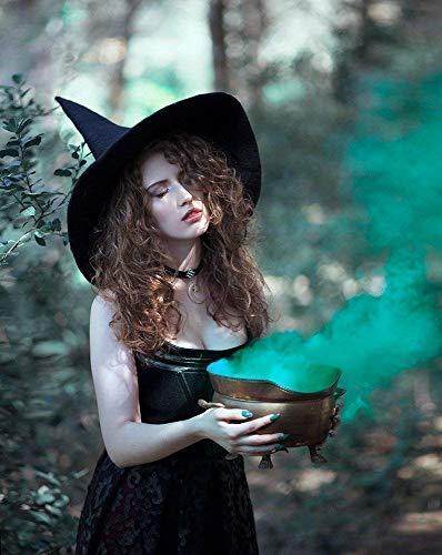 Sombrero de bruja negro de lana dark wicca halloween harry potter ...