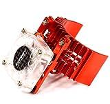 #7: Integy RC Model Hop-ups T8074RED Motor Heatsink 540 Size w/ Cooling Fan for Slash, Stampede 2WD, Rustler & Bandit