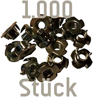 1000 Einschlagmuttern M10 zum Kletterwandbau (für prises d'escalade) Kletterbude