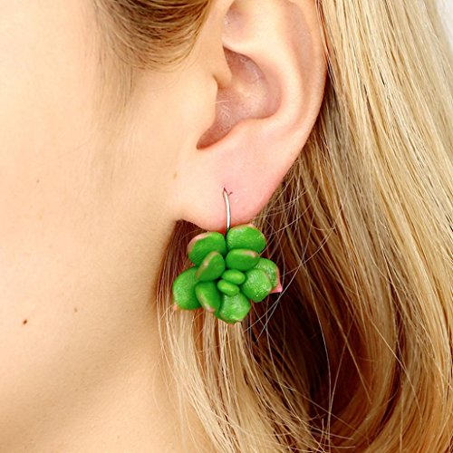 Cactus Filigree - Jiayit Earrings Stud for Women Girls Teens, Clearance Sale! Green Mismatched Colorful Funny Cactus Succulents Plant Flower Earrings Jewelry (Green)