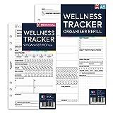 NBplanner WELLNESS TRACKER organiser refill planner insert Filofax Compatible coloured English (Personal: 95 x 171 mm)