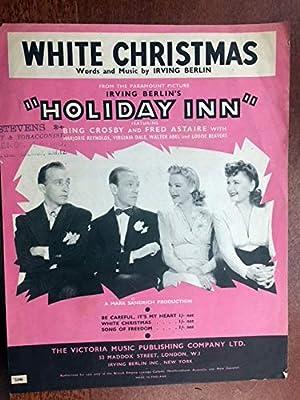 White Christmas Irving Berling.White Christmas Irving Berlin Sheet Music Rare British Version