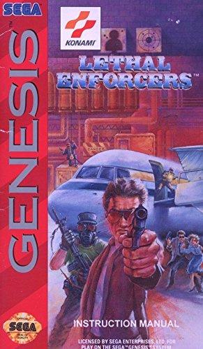 Sega Genesis Lethal Enforcers Instruction Manual