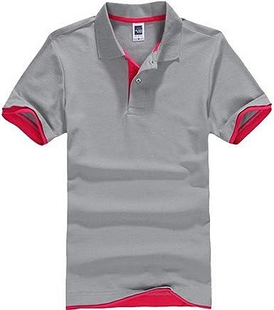 Lannister Fashion Camisa De Polo Hombres Camisa De Retro Polo De Manga Corta De Solapa Transpirable Camisas De Polo De Ocio De Color Sólido Transpirable: Amazon.es: Ropa y accesorios