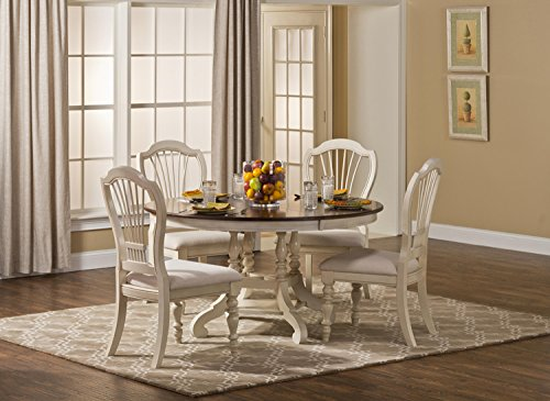 5-Pc Round Dining Set in Old White
