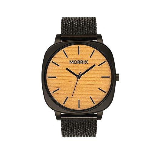 Reloj de Madera de Morrix, Reloj de Madera para Hombre y Mujer (Oregon Pine