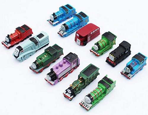 New 2015 12pcs/lot Thomas Mini Trains Figure Toys Thomas and His Friends Children's Educational Trains Toys