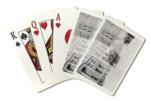 New York City - Fire Department's Horse Drawn Engine - Vintage Photograph (Playing Card Deck - 52 Card Poker Size with Jokers)