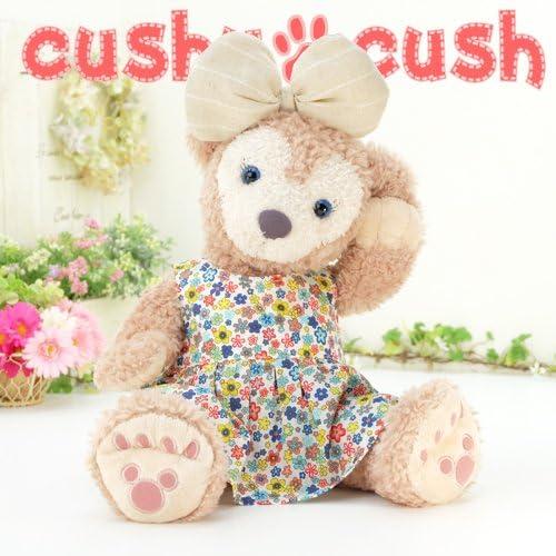 cushu cush ダッフィー シェリーメイ ぬいぐるみ用 着せ替え 洋服 コスチューム ブルー系花柄 ワンピース 単品 リボンは付いていません cds236S
