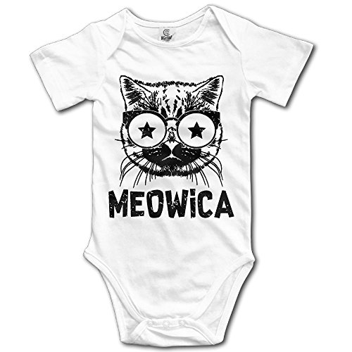 Kim Kardashian Cat Costume (Unisex Baby Meowica America Patriot Cat Short-Sleeveless Romper Bodysuit Jumpsuit Baby Clothes Outfits 18 Months)