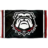 College Flags and Banners Co. University of Georgia Bulldogs Black Dawg Flag