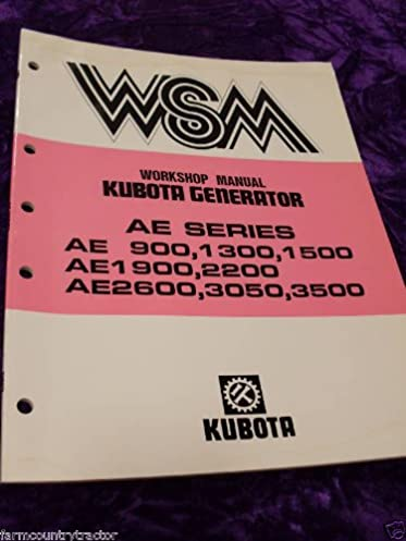 kubota ae900 1300 1500 etc generator oem service manual kubota rh amazon com Generator Meter Socket Amico AG 1500 Generator