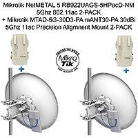 Mikrotik NetMETAL 5 RB922UAGS-5HPacD-NM X 2 + MTAD-5G-30D3-PA mANT30-PA 30dBi X2