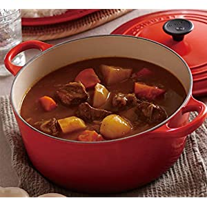 Le Creuset LS2501-2667 Signature Enameled Cast-Iron Round French (Dutch) Oven, 5-1/2-Quart, Cerise
