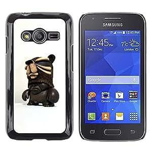 Be Good Phone Accessory // Dura Cáscara cubierta Protectora Caso Carcasa Funda de Protección para Samsung Galaxy Ace 4 G313 SM-G313F // 3D Figurine Chocolate Dark Man