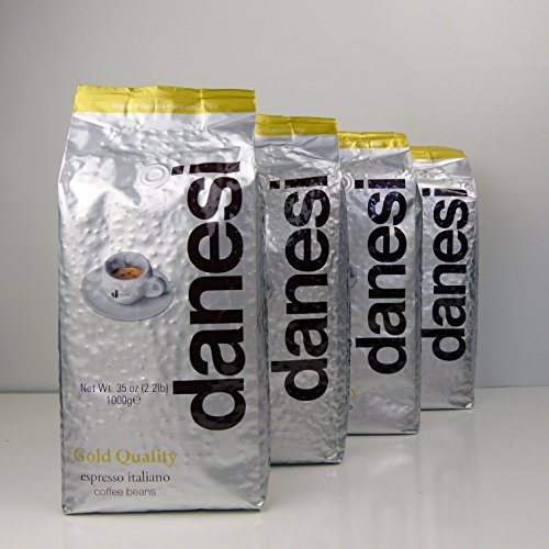 Danesi Gold Quality Beans 2.2 lbs bag Espresso Coffee Beans from Italy (4 x 2.2 lbs) by Danesi