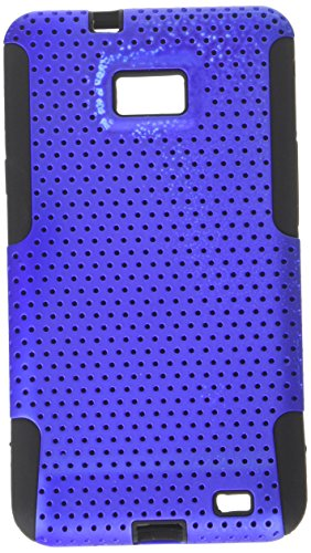Asmyna ASAMI777HPCAST007NP Astronoot Premium Hybrid Case with Durable Hard Plastic Faceplate for Samsung Galaxy S II/SGH-i777 - 1 Pack - Retail Packaging - Dark Blue/Black