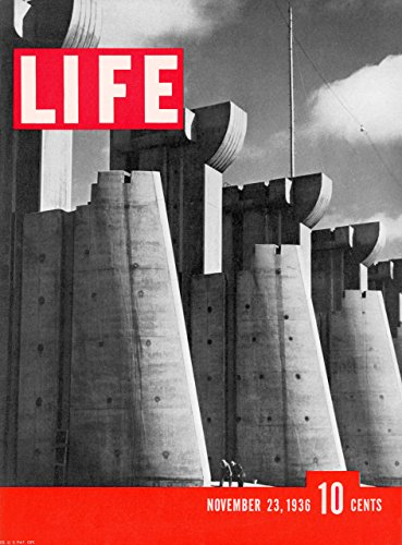 LIFE MAGAZINE VOL. 1 ISSUE #1, NOV. 23, 1936 FORT PECK