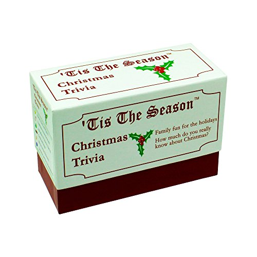 Tis The Season Christmas Trivia Game - The Classic and Original - Featuring Christmas Trivia Cards & Questions That Make For Great Holiday Games For The Entire Family (1 Pack) (Themed Games For Groups Christmas)