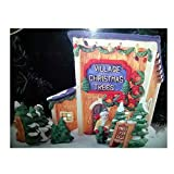Dickens Collectables Towne Series ''Village Christmas Trees'' Lighted Porcelain House (1998)