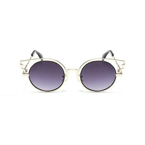 Z&YQ Occhiali da sole fashion Occhiali da vista in metallo con montatura in metallo anti-UV, G